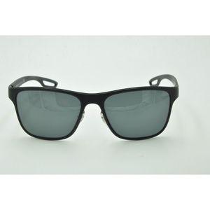 Prada SPR 56Q Sunglasses DG0-1A1 Rubber Black Gray